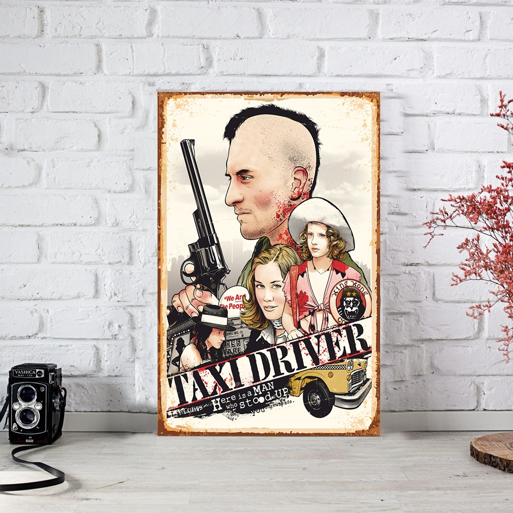 Taxi Driver Cinema Ahşap Poster (PST738)