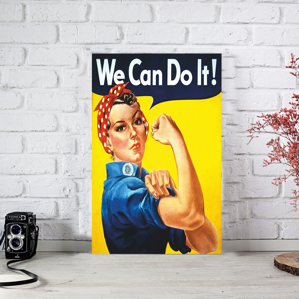 We Can Do it Ahşap Poster (PST767)