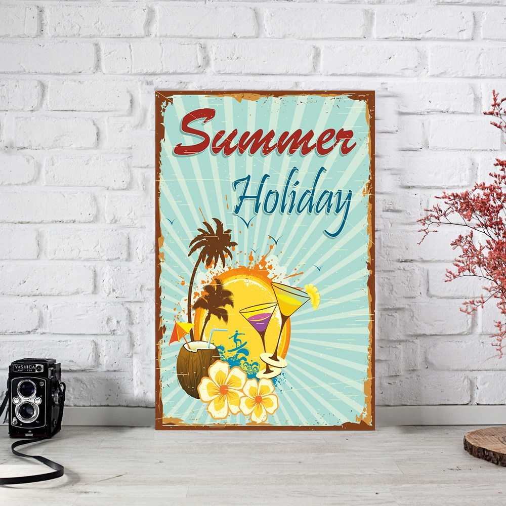 Summer Holiday Ahşap Poster (PST730)