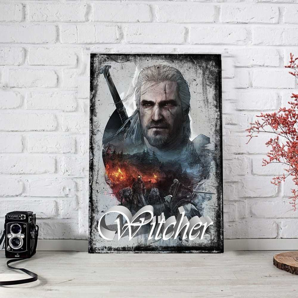 The Witcher Retro Ahşap Poster (PST336)