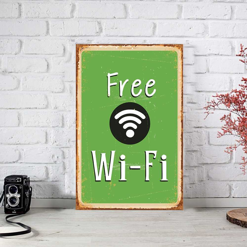 Wifi Ahşap Poster (PST766)